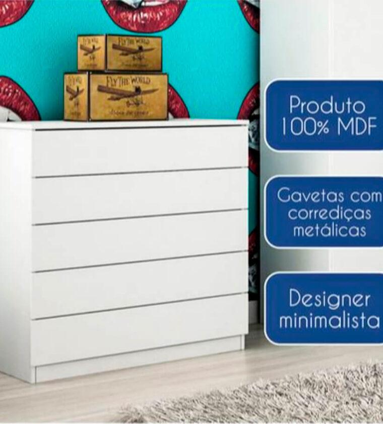 Cômoda Premium Branco TCIL Móveis