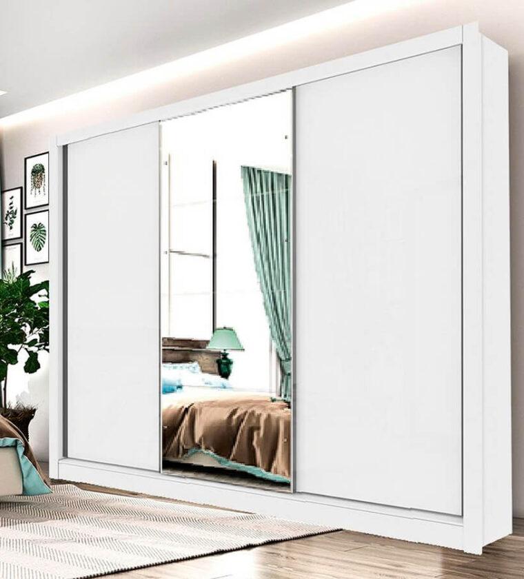 Guarda Roupa Casal Com Espelho 3 Portas 6 Gavetas Phoenix Tcil Móveis Neve