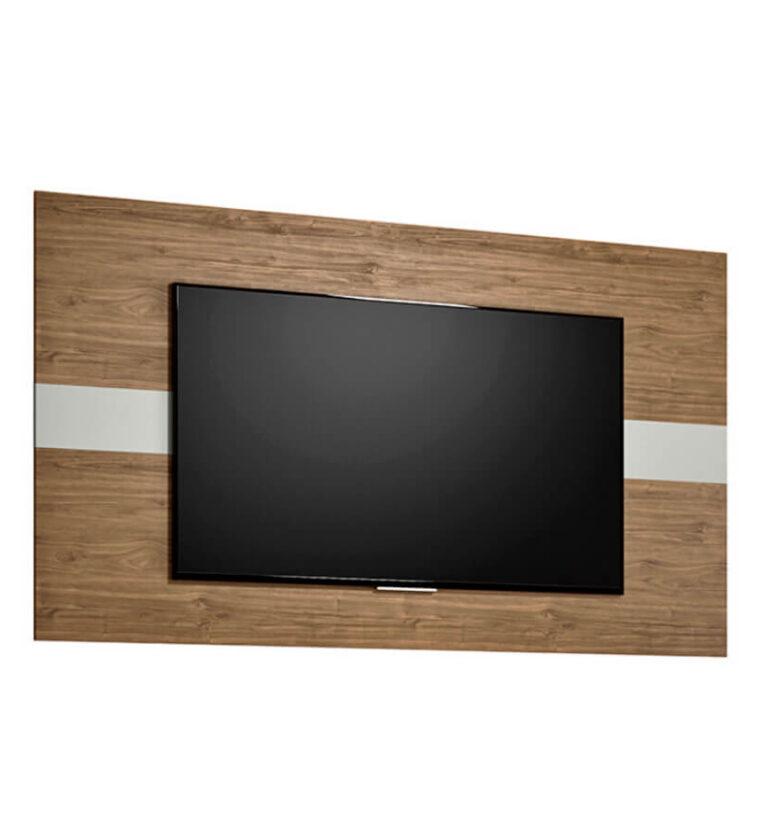Painel Franca Linea Brasil para TV de até 55 polegadas - Avelã / Off White