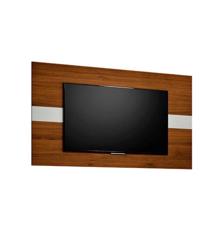Painel Franca Linea Brasil para TV de até 55 polegadas - Nogueira / Off White