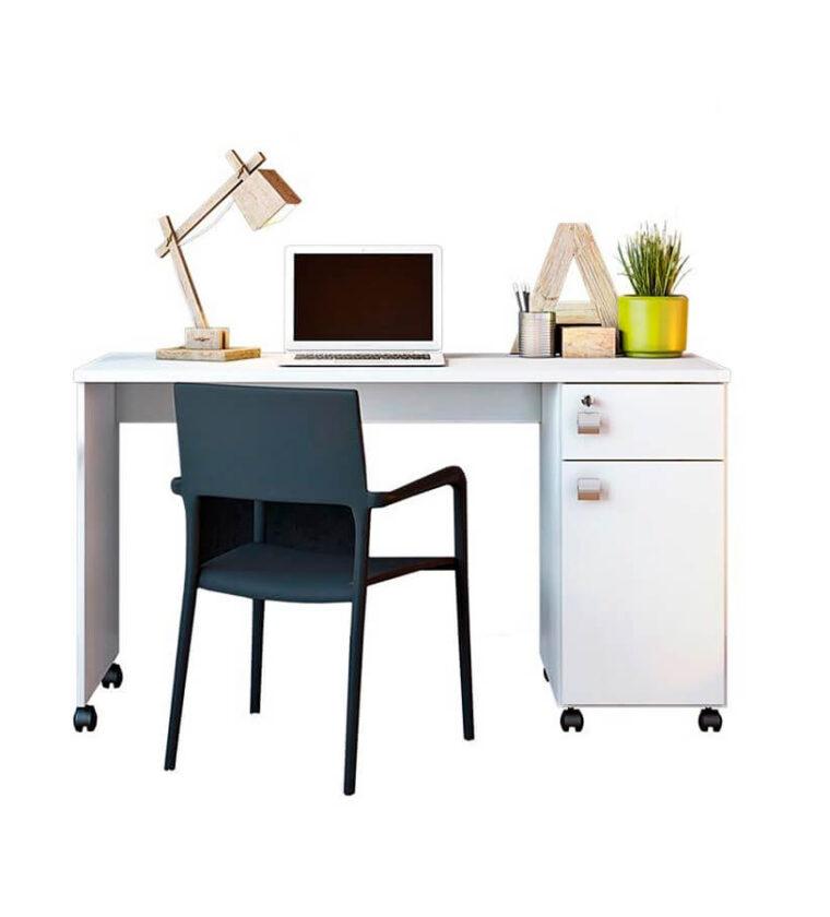 Escrivaninha Office Malta - Branca - Lukaliam