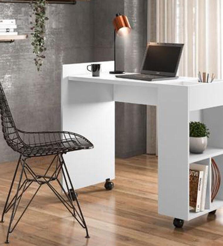 Mesa Computador Alessa - Modulo Brilhante -Lukaliam