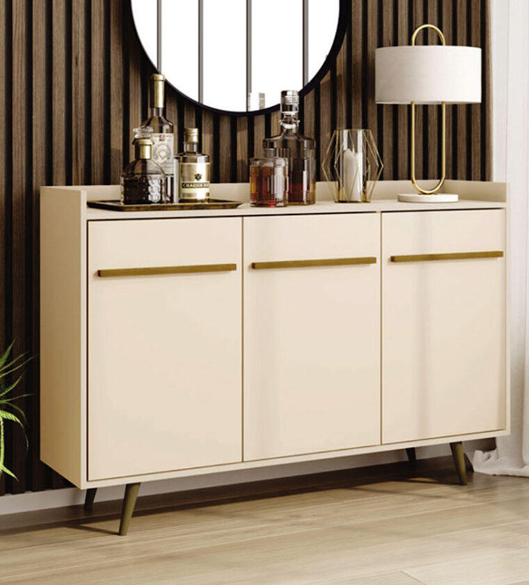 APARADOR BUFFET QUARTZO OFF WHITE BECHARA