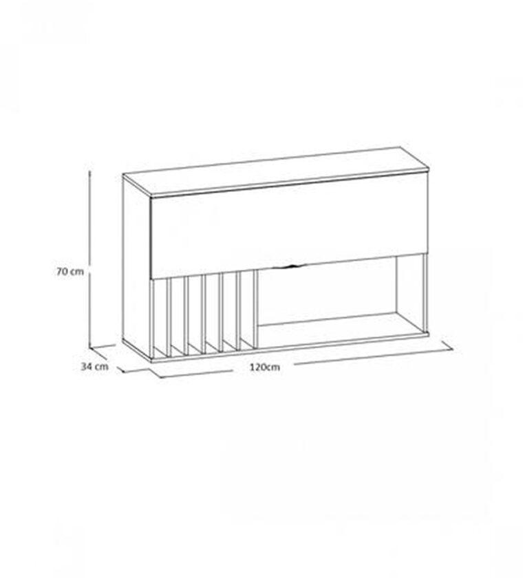 Aereo 120cm - Basculante - Freijo/Off White