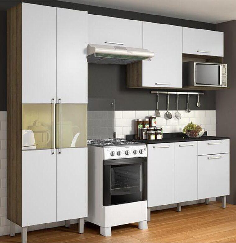 Cozinha Star Branco/Castanho - Itatiaia