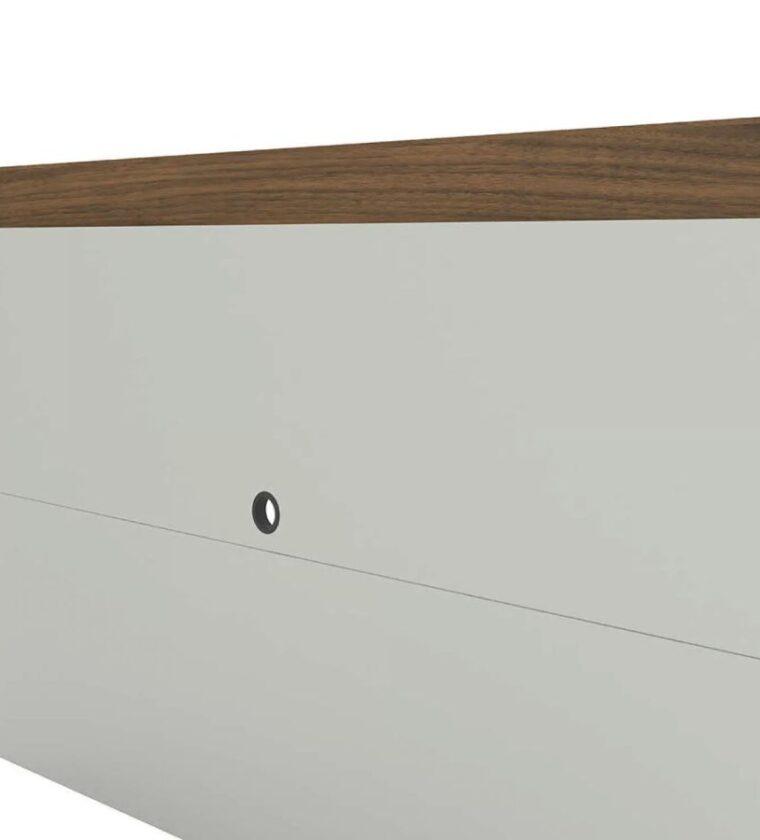 Conjunto Rack com Painel Aracaju - Off white/nogueira - Linea