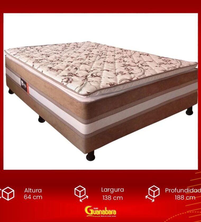 Cama Box Casal com Pillow - Marrom - Design Colchões