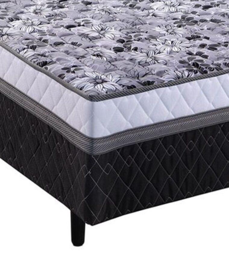 Cama Box Casal Tec Black - Design