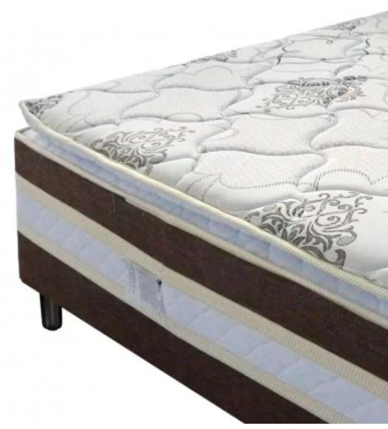 Cama Box Casal Ouro - Marrom - Design