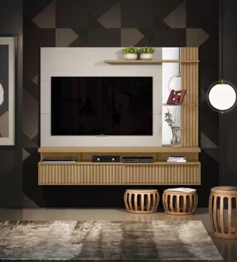 Painel Home Maragogi - Carvalho/Off White - Linea