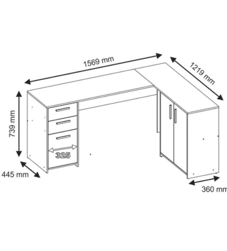 Mesa Office NT 2005 - Branco - Notável Móveis
