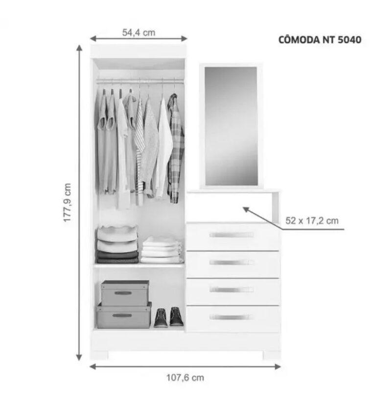Cômoda Notável NT 5040 - Freijó Trend/Off White - Notável