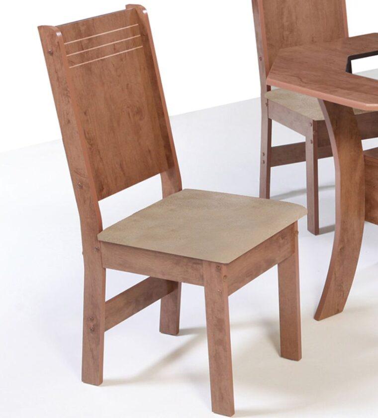 Conjunto Com 4 Cadeiras Barcelona - Bronze Demolição - São Carlos