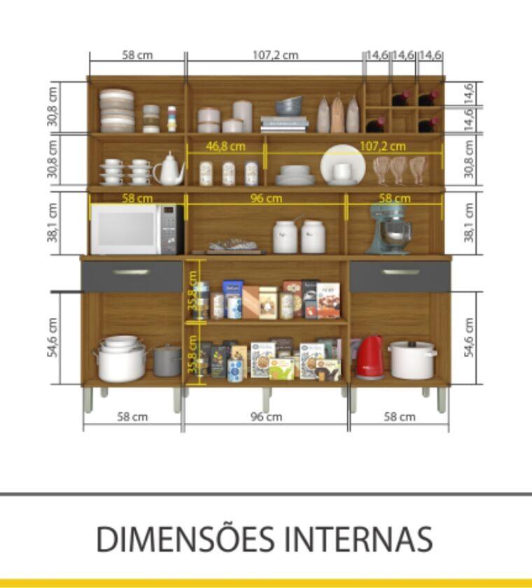Cozinha Master 7 portas/2 Gavetas - Freijo/Grafite - Nesher