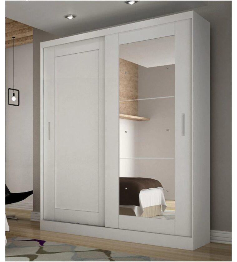 Roupeiro Paris c/ Espelho - Branco - Rufato